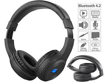 Auvisio Mp3 Kopfhorer Faltbares Over Ear Headset Mit Bluetooth Mp3