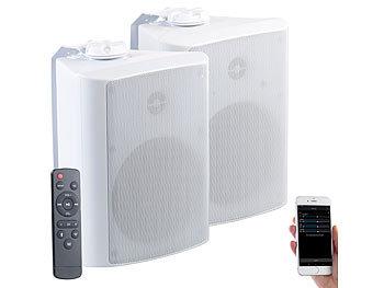 auvisio outdoor lautsprecher aktiv multiroom stereo au en lautsprecher wlan bluetooth 120w. Black Bedroom Furniture Sets. Home Design Ideas