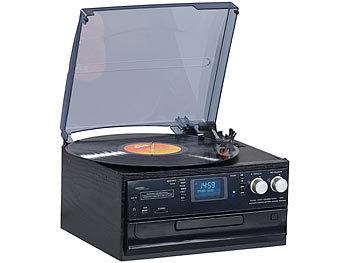 auvisio musikanlage 5in1 plattenspieler mit dab fm radio bluetooth cd player 100 watt. Black Bedroom Furniture Sets. Home Design Ideas