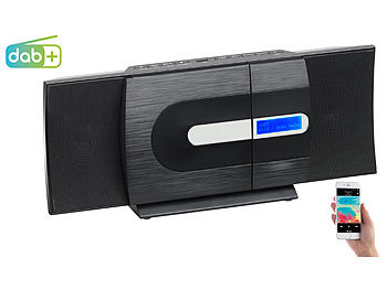 auvisio radio mit cd vertikale design stereoanlage fm. Black Bedroom Furniture Sets. Home Design Ideas