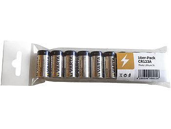 varta lithium batterie typ cr123a f r kameras 3 v im 10er pack. Black Bedroom Furniture Sets. Home Design Ideas