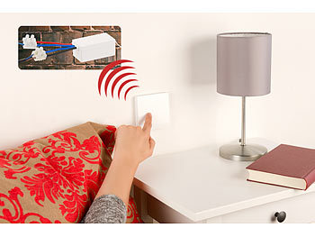 revolt lichtschalter ohne kabel batterieloser funk ein. Black Bedroom Furniture Sets. Home Design Ideas