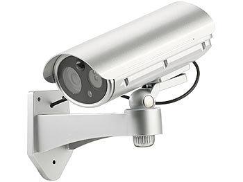 visortech kamera dummy berwachungskamera attrappe bewegungsmelder alarm funktion 85 db. Black Bedroom Furniture Sets. Home Design Ideas