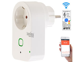 Luminea Home Control WLAN-Steckdose mit App, kompatibel mit Amazon Alexa & Google Assistant Luminea Home Control WLAN-Steckdosen, kompatibel zu Amazon Alexa & Google Assistant