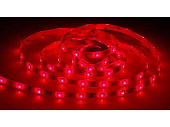 luminea rgb led sets rgb led streifen lac 206 2 m 60 leds dimmbar ip44 led lichterband. Black Bedroom Furniture Sets. Home Design Ideas