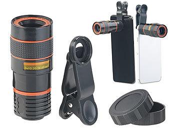 Somikon handy teleobjektiv smartphone vorsatz tele objektiv mit