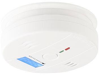 Digitaler Kohlenmonoxid-Melder COM-150, LCD-Display, 85 dB Alarm, EN 50291 0