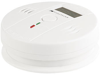 Digitaler Kohlenmonoxid-Melder COM-150, LCD-Display, 85 dB Alarm, EN 50291 2