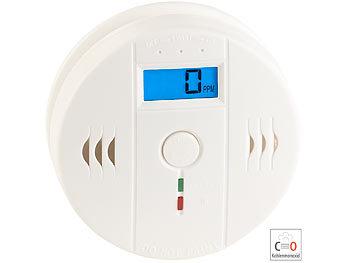 Digitaler Kohlenmonoxid-Melder COM-150, LCD-Display, 85 dB Alarm, EN 50291 5