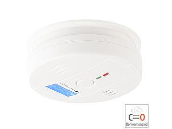 Digitaler Kohlenmonoxid-Melder COM-150, LCD-Display, 85 dB Alarm, EN 50291 6