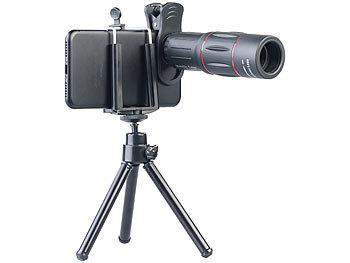 Somikon vorsatzlinsen vorsatz tele objektiv mit smartphone stativ