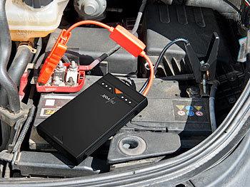 revolt Autobatterie Ladegerät: 3in1 Kfz Starthilfe und USB