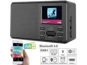 Mobiles Digitalradio mit DAB+ und UKW, LCD-Farbdisplay, Wecker, 8 Watt / Dab Radio