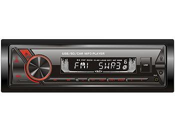 MP3-Autoradio mit Bluetooth & Freisprechfunktion, RDS, USB, SD, 4x45 W / Autoradio