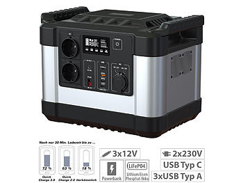 Power-Banks 230 Volt