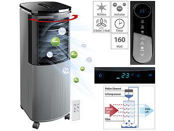 Verdunstungs-Luftkühler mit Peltier-Element, Ionisator, 7 l, 160 W / Luftkühler