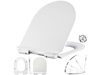 Flacher WC-Sitz, D-Form, Absenkautomatik, antibakteriell beschichtet