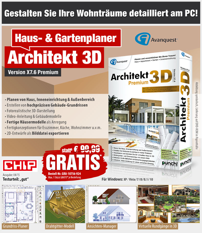 hotpricemail gratis statt 99 99 eur architekt 3d x7 6 premium 3d haus gartenplaner. Black Bedroom Furniture Sets. Home Design Ideas