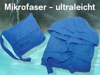 mikrofaser bademantel gr sse m blau. Black Bedroom Furniture Sets. Home Design Ideas