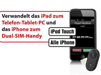 Callstel Externer Bluetooth-SIM-Adapter für Android-Handy & -Tablet Callstel