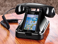 Telefonst&auml;nder mit<br />Retro-H&ouml;rer f&uuml;r Smartphones mit 3...