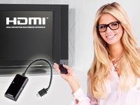 Callstel MHL-Adapter<br />mit Full HD und Fernbedienung