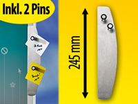 Magnet-Pins infactory Selbstklebendes Edelstahl-Memoboard inkl