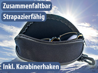 infactory<br />Strapazierf&auml;higes Softcase-Brillen-Etui 18...