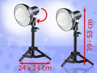 Somikon Stativ-<br />Fotolampen mit Tageslichtleuchte 5400...
