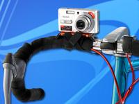 Somikon Universal-<br />Kamera-Halterung f&uuml;r Fahrrad, Gel&auml;...