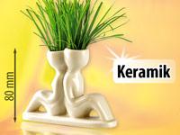 infactory Gras-P&auml;rchen<br />&quot;R&uuml;cken an R&uuml;cken&quot; aus Kerami...
