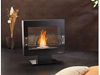 carlo milano offener deko kaminofen bio ethanol mit standfu. Black Bedroom Furniture Sets. Home Design Ideas