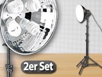 somikon tageslicht studioleuchte mit stativ diffusor im 2er set. Black Bedroom Furniture Sets. Home Design Ideas