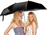 PEARL Paar-Regenschirm<br />f&uuml;r 2 Personen inklusive Schu...
