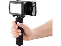 Somikon LED-<br />Videoleuchte mit Stativhalterung f&uuml;r iPh...