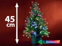 Lunartec grosser led weihnachtsbaum mit glasfaser farbwechsler - Weihnachtsbaum mini led ...