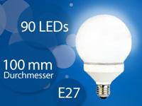 LED-Lampe Globe, 90<br />LEDs, wei&szlig;, E27 (230V)