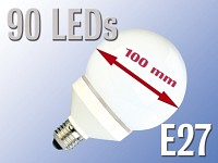 LED-Lampe Globe, 90<br />LEDs, warmwei&szlig;, E27 (230V)