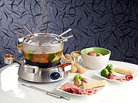 rosenstein s hne fondue set mit glasschale. Black Bedroom Furniture Sets. Home Design Ideas