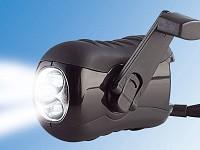 lunartec outdoor dynamo taschenlampe mit 3 leds schwarz. Black Bedroom Furniture Sets. Home Design Ideas