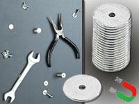 Minimagnete infactory Magnete: Neodym-Scheibenmagnet N35 20er-Pack winzige 12 x 1 mm