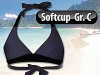 ... Speeron Bikini-Oberteil in Triangelform, schwarz-grau, Körbchen C Speeron  Bikinis