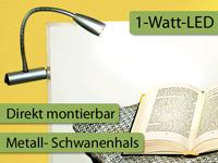 ultrahelle led lampe mit metall schwanenhals f r bettbefestigung. Black Bedroom Furniture Sets. Home Design Ideas