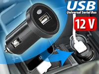 revolt Mini-USB-<br />Netzteil f&uuml;r Kfz 12V/24V mit 500mA