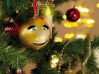 infactory singende sprechende weihnachtsbaumkugel. Black Bedroom Furniture Sets. Home Design Ideas