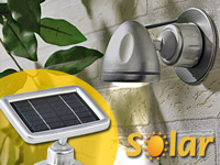 Lunartec 3 LED-Strahler<br />mit Solar-Panel &amp; PIR-Bewegu...