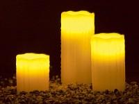 Lunartec LED-<br />Echtwachskerzen mit Candle-LED &amp; Fernbe...