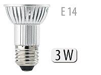 Luminea LED-Spot 3x 1W-<br />LED, wei&szlig;, E14, 250 lm
