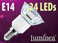 Luminea SMD-LED-Lampe<br />E14, 24 LEDs, warmwei&szlig;, 110 lm...