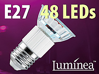 Luminea SMD-LED-Lampe,<br />E27, 48 LEDs, gr&uuml;n, 85 lm